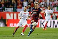 FC Barcelona´s  midfielder Ivan Rakitic  during the Final of Copa del Rey match between FC Barcelona and SevillaFC at the Vicente Calderon Stadium in Madrid, Sunday, May 22, 2016.