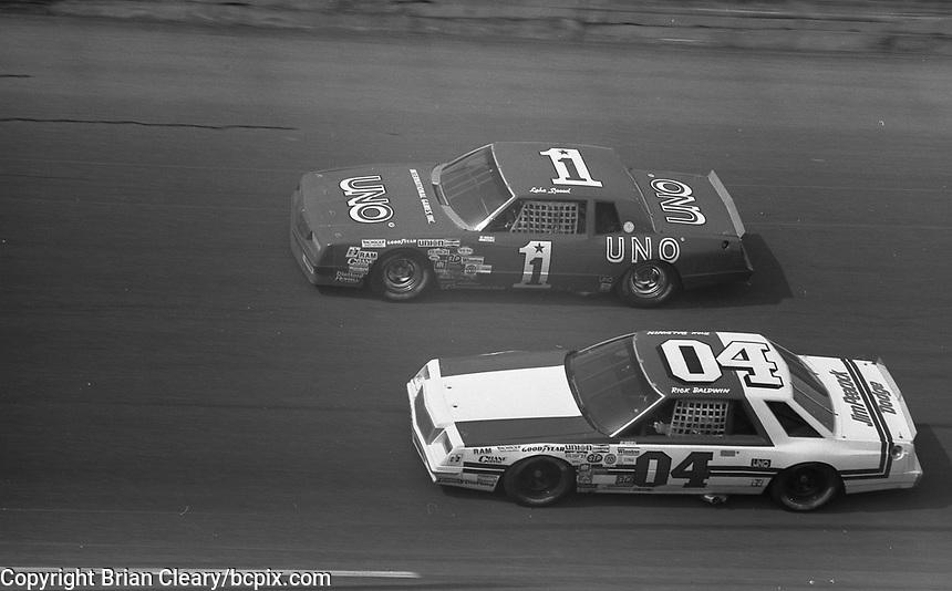 1983 Daytona 500 NASCAR race, Daytona International Speedway, Daytona Beach, FL, July 4, 1978.  (Photo by Brian Cleary/ www.bcpix.com )