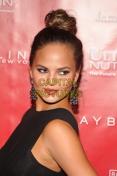 New York,NY- January 31: Chrissy Teigen at SHAPE &amp; Men's Fitness Kickoff Party at Cipriani 42nd Street on January 31, 2014.  <br /> CAP/MPI/RTNStevens<br /> &copy;RTNStevens/MediaPunch/Capital Pictures