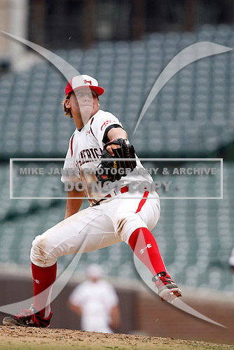 August 8, 2009:  Infielder/Pitcher Stetson Allie (24) of Team One during the Under Armour All-America event at Wrigley Field in Chicago, Illinois.  (Copyright Mike Janes Photography)
