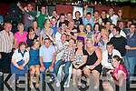 Party Time - Christopher Lennihan from Ardfert, seated centre having a ball with family and friends at his 35th birthday party held in The Abbey Tavern, Ardfert on Saturday night. ................................................................................................................................................................................................................ ............