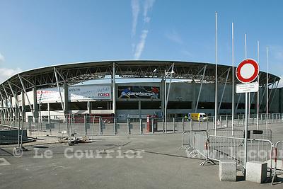 Genève, le 16.04.2008.Zone industiel de la Praille..Stade de la praille..© Le Courrier / J.-P. Di Silvestro