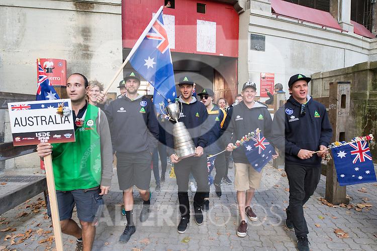 Australia enduro team during the presentation of the FIM international six days of enduro 2016 in Pamplona, Spain. October 09, 2016. (ALTERPHOTOS/Rodrigo Jimenez)