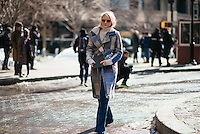 Laura Brown attends Day 7 of New York Fashion Week on Feb 18, 2015 (Photo by Hunter Abrams/Guest of a Guest)