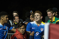 LAKEWOOD RANCH, Florida – Friday, December 4, 2015: The U.S. Men's National team U-17s defeat the Netherlands U-17 Men's National team 2-1 during the 2015 Nike International Friendlies at Premier Sports Campus.