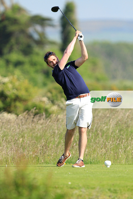 Mark Morrissey (Mount Wolseley) on the 2nd tee during Round 1 of the East of Ireland in the Co. Louth Golf Club at Baltray on Saturday 31st May 2014.<br /> Picture:  Thos Caffrey / www.golffile.ie