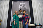January 22, 2018; Students pose for a photo after the 2018 MLK Luncheon. (Photo by Matt Cashore/University of Notre Dame)