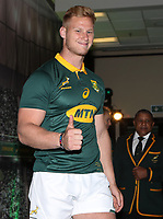 Jean-Luc du Preez during the South African Official Springbok team photograph at the team hotel Southern Sun Pretoria Hotel,Pretoria South Africa. 9th June 2017(Photo by Steve Haag Sports)