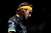 15th November 2019; 02 Arena. London, England; Nitto ATP Tennis Finals; A dejected Stefanos Tsitsipas (Greece) as he looses the second set against Rafael Nadal (Spain) - Editorial Use