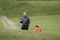 Gary O'Flaherty (Cork)  plays out of a bunker on the 2nd during Round 3 of the East of Ireland Amateur Open Championship at Co. Louth Golf Club in Baltray on Sunday 4th June 2017.<br /> Photo: Golffile / Thos Caffrey.<br /> <br /> All photo usage must carry mandatory copyright credit     (&copy; Golffile | Thos Caffrey)