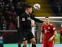 Luka Jovic (Eintracht Frankfurt) beim Kopfball - 22.12.2018: Eintracht Frankfurt vs. FC Bayern München, Commerzbank Arena, DISCLAIMER: DFL regulations prohibit any use of photographs as image sequences and/or quasi-video.