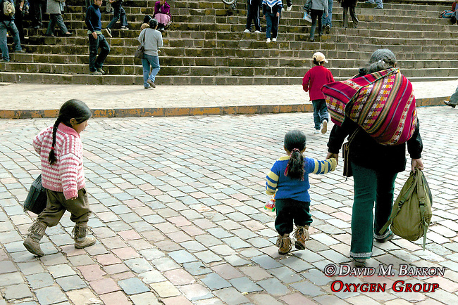 Mother & Child In Plaza De Armas