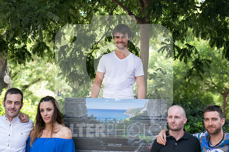 "The actors an the director at the photocall of the presentation of the horror movie ""La Cueva"" (The Cave) in Madrid. Spain. Jul 08, 2014. (ALTERPHOTOS/Carlos Dafonte)"