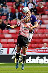 Jack O'Connell of Sheffield Utd and James Vaughan of Sunderland during the Championship match at the Stadium of Light, Sunderland. Picture date 9th September 2017. Picture credit should read: Simon Bellis/Sportimage