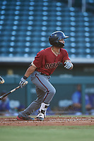 AZL Dbacks designated hitter Marshawn Taylor (5) at bat during an Arizona League game against the AZL Cubs 2 on June 25, 2019 at Sloan Park in Mesa, Arizona. AZL Cubs 2 defeated the AZL Dbacks 4-0. (Zachary Lucy/Four Seam Images)
