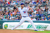 Iowa Cubs pitcher Trevor Clifton (35) delivers a pitch during a Pacific Coast League game against the Colorado Springs Sky Sox on June 22, 2018 at Principal Park in Des Moines, Iowa. Iowa defeated Colorado Springs 4-3. (Brad Krause/Four Seam Images)