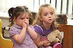 Hayley and Chloe Hughes at Childrens Story Tme in Drogheda Library...Picture Jenny Matthews/Newsfile.ie