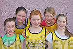 ANGELIC: The Angels team who were angelic at the Basketball blitz in Currow Community Centre on Sunday were l-r: Orla Brosnan, Lisa Browne, Seorcha O'Connor, Aoife Horgan and Aislinn O'Sullivan.   Copyright Kerry's Eye 2008