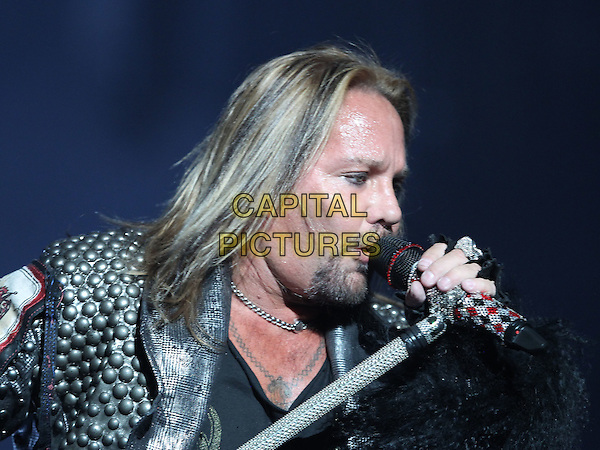 Vince Neil.Motley Crue in Sin City Kicks off month long residency at the Joint inside the Hard Rock Hotel and Casino, Las Vegas, Nevada, USA, .3rd February 2012 ..portrait headshot music live on stage performing concert gig goatee beard facial hair microphone singing .CAP/ADM/MJT.© MJT/AdMedia/Capital Pictures.