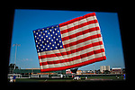 USA-NewJersey-World's largest free-flying flag balloon in Hoboken