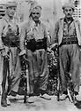 Iraq 1967  <br /> Left, Fayed Kozarak Hamadan, in the middle, Kemal Mufti, right, Mahmoud Wala Simt<br /> Irak 1967 <br /> A gauche Fayed Kozarak Hamadan, au centre Kemal Mufti et a droite Mahmoud Wala Simt