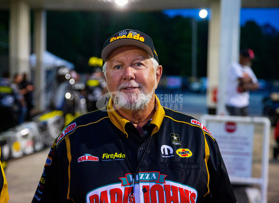 May 4, 2018; Commerce, GA, USA; NHRA sponsor Ron Thames during qualifying for the Southern Nationals at Atlanta Dragway. Mandatory Credit: Mark J. Rebilas-USA TODAY Sports