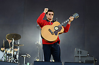 LONDON, ENGLAND - JUNE 29: Johnny Took of 'DMA'S' performing at Finsbury Park on June 29, 2018 in London, England.<br /> CAP/MAR<br /> &copy;MAR/Capital Pictures