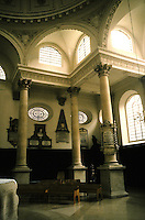 Sir Christopher Wren: St. Stephen Walbrook, London. Interior detail.
