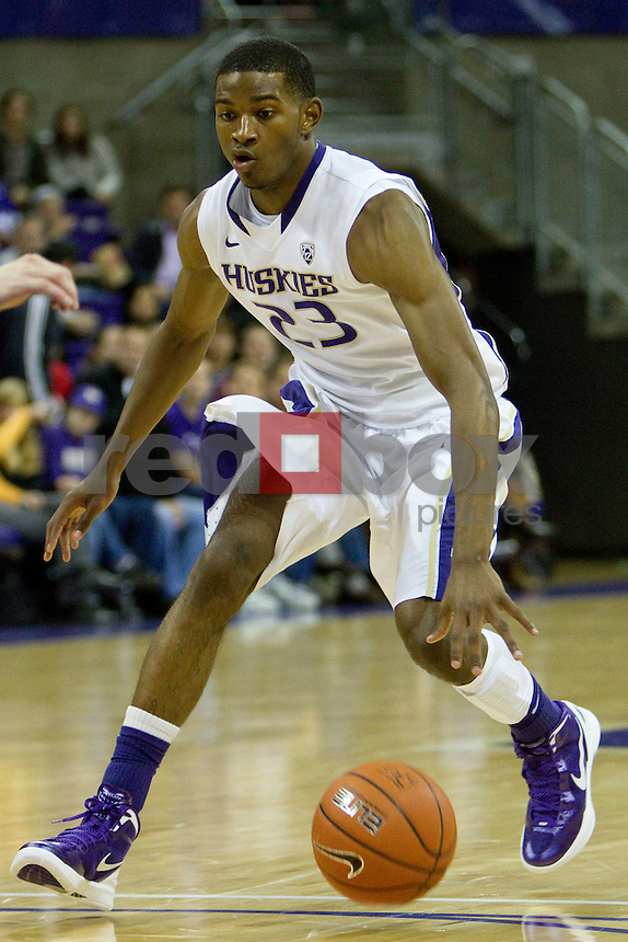 C.J. Wilcox. The University of Washington men's basketball team defeated Seattle Pacific University 77-60  at Alaska Airlines Arena at the University of Washington on Friday November 4, 2011. (Photography By Scott Eklund/Red Box Pictures)