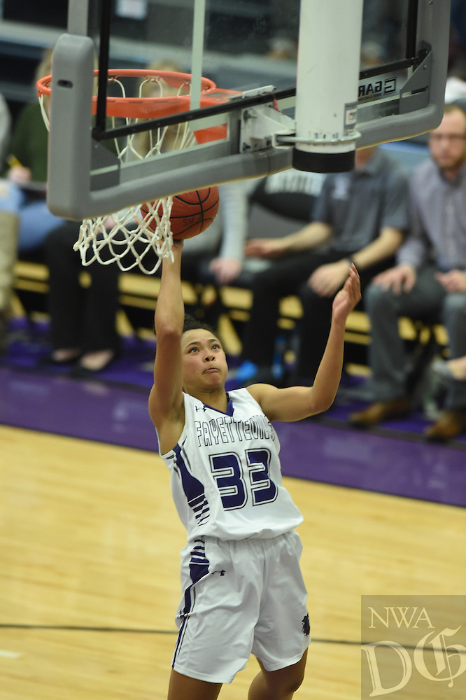 NWA Democrat-Gazette/MICHAEL WOODS &bull; @NWAMICHAELW<br /> Fayetteville High School vs Little Rock Central Saturday, December 10, 2016 during their game in the Lady Bulldog Classic at Fayetteville High School.