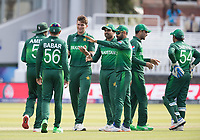 Shaheen Afridi (Pakistan) celebrates the wicket of Mohammad Saifuddin (Bangladesh) during Pakistan vs Bangladesh, ICC World Cup Cricket at Lord's Cricket Ground on 5th July 2019