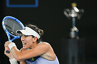 January 1, 2020: GARBIÑE MUGURUZA (ESP) in action against 14th seed SOFIA KENIN (USA) on Rod Laver Arena in the Women's Singles Final match on day 13 of the Australian Open 2020 in Melbourne, Australia. Photo Sydney Low. Kenin won 46 62 62