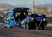 Jan 31, 2018; Chandler, AZ, USA; NHRA funny car driver Shawn Langdon during Nitro Spring Training Testing at Wild Horse Pass Motorsports Park. Mandatory Credit: Mark J. Rebilas-USA TODAY Sports