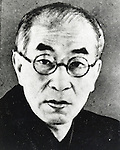 Undated - Toson Shimazaki (1872-1943) was a Japanese author, active in the Meiji, Taisho and early Showa period Japan. He began his career as a poet, but went on to establish himself as the major proponent of naturalism in Japanese literature. He joined a literary group associated with the literary magazine Bungakukai in 1893. His first novel, The Broken Commandment was published in 1906. It was considered a landmark in Japanese realism and is thus regarded as the first Japanese naturalist novel.  (Photo by Kingendai Photo Library/AFLO)
