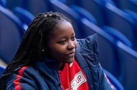 HARRISON, NJ - MARCH 7: SheBelieves Hero Semahj Ware talks to the media at Red Bull Arena on March 7, 2020 in Harrison, New Jersey.