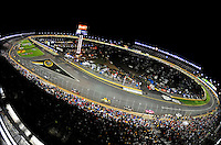 Oct. 17, 2009; Concord, NC, USA; Overview of Lowes Motor Speedway during the NASCAR Banking 500. Mandatory Credit: Mark J. Rebilas-