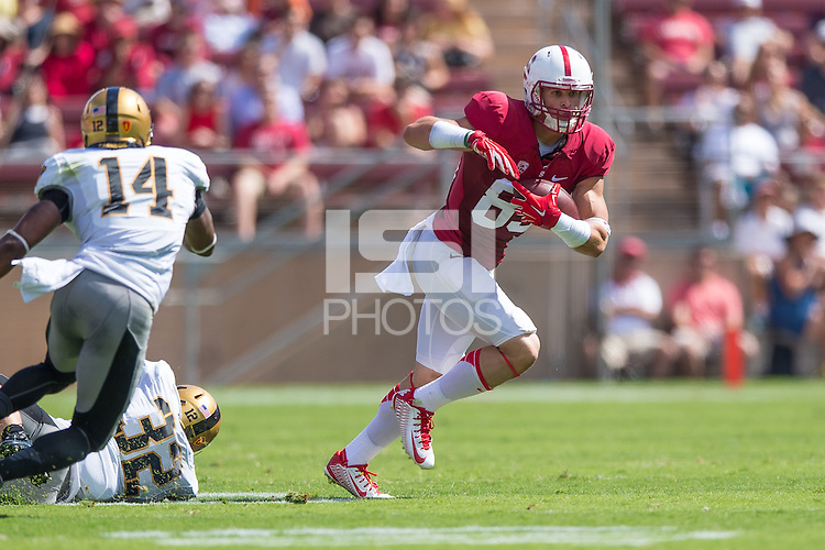 STANFORD, CA - SEPTEMBER 13, 2014:  Devon Cajuste during Stanford's game against Army. The Cardinal defeated the Black Knights 35-0.