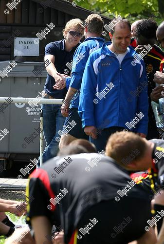 2009-06-18 / Voetbal / Eerste training KV Mechelen / Bjorn Vleminckx kwam op bezoek bij zijn ex-club..Foto: Maarten Straetemans (SMB)