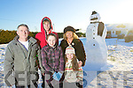 The Flemming family from Gortaclea with their 12 foot snowman who they think bears a startling simarlarity to Limerick TD Willie O'Dea. In photo are Parents Maureen and Derry with children Maryanne, Sadhbh and Tadhg.