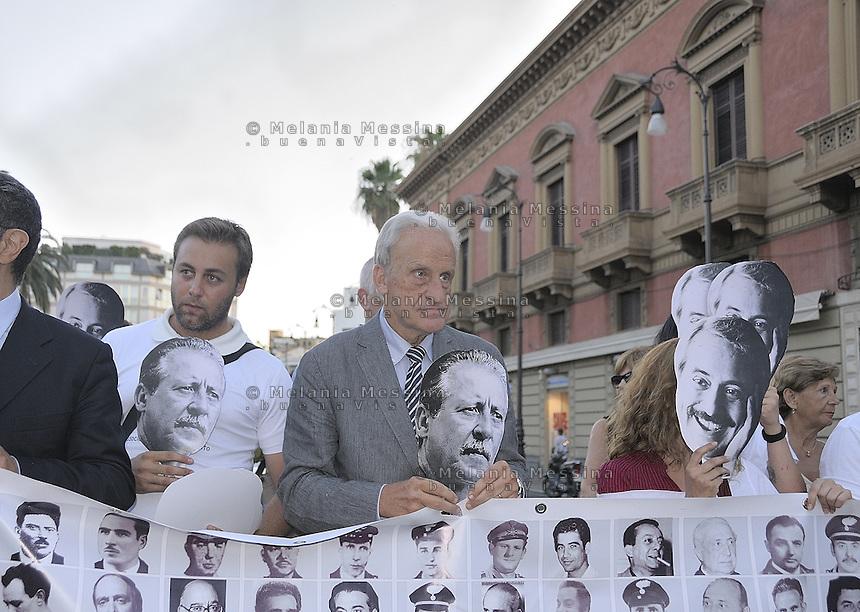 Palermo: commemoration of the massacre of Via D'Amelio,  the march of the antimafia judges: Leonardo Guarnotta...Palermo: commemorazione della strage di via D'amelio,  corteo dei giudici: Leonardo Guarnotta..