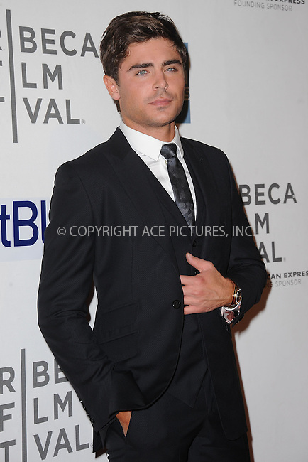 WWW.ACEPIXS.COM . . . . . .April 19, 2013...New York City....Zac Efron attends the 'At Any Price' New York premiere during the 2013 Tribeca Film Festival on April 19, 2013 in New York City. ....Please byline: KRISTIN CALLAHAN - WWW.ACEPIXS.COM.. . . . . . ..Ace Pictures, Inc: ..tel: (212) 243 8787 or (646) 769 0430..e-mail: info@acepixs.com..web: http://www.acepixs.com .