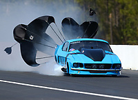 Mar 16, 2018; Gainesville, FL, USA; NHRA pro mod driver Michael Biehle II during qualifying for the Gatornationals at Gainesville Raceway. Mandatory Credit: Mark J. Rebilas-USA TODAY Sports