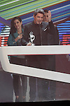 Singer Alejandro Sanz receives the award for Best Festival, tour or concert during the gala of '40 Principales Awards 2013'.December 12,2013. (ALTERPHOTOS/Acero)