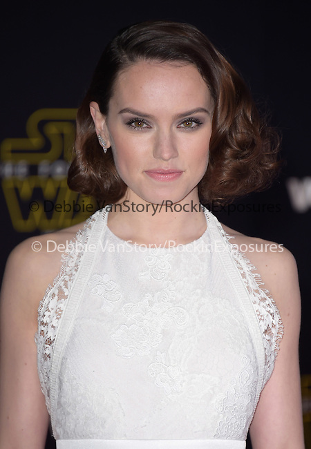 Daisy Ridley at Star Wars: The Force Awakens World Premiere held at El Capitan Theatre in Hollywood, California on December  14,2015                                                                   Copyright 2015Hollywood Press Agency