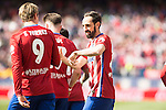 Atletico de Madrid's Fernando Torres, Saul Niguez and Juanfran Torres during BBVA La Liga match. April 02,2016. (ALTERPHOTOS/Borja B.Hojas)
