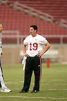 21 April 2007: Chris Berg during the Alumni's 38-33 victory over the coaching staff during a flag football exhibition at Stanford Stadium in Stanford, CA.