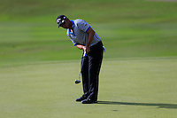 Pablo Larrazabal (ESP) on the 3rd green during Round 3 of the Maybank Malaysian Open at the Kuala Lumpur Golf & Country Club on Saturday 7th February 2015.<br /> Picture:  Thos Caffrey / www.golffile.ie