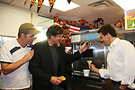 Daniel Cosgrove - Frank Dicopoulos - Lawrence Saint-Victor - Kurt McKinney - Guiding Light's actors make ice cream and meet fans at Stacy Jo's Ice Cream in McKees Rocks, PA on September 30, 2009. During the weekend of events proceeds from pink ribbon bagel sales at various Panera Bread locations will benefit the Young Women's Breast Cancer Awareness Foundation. (Photo by Sue Coflin/Max Photos)