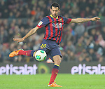 08.01.2014 Barcelona, Spain. Spanish Cup 1/8 Final. Picture show Sergio Busquets  in action during game between FC Barcelona against Getafe at Camp Nou
