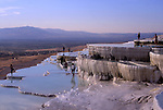 Asia, TUR, Turkey, Aegean, Pamukalle, Hot springs, Limestone terrace, Typical View....[ For each utilisation of my images my General Terms and Conditions are mandatory. Usage only against use message and proof. Download of my General Terms and Conditions under http://www.image-box.com or ask for sending. A clearance before usage is necessary...Material is subject to royalties. Each utilisation of my images is subject to a fee in accordance to the present valid MFM-List...Contact | archive@image-box.com | www.image-box.com ]